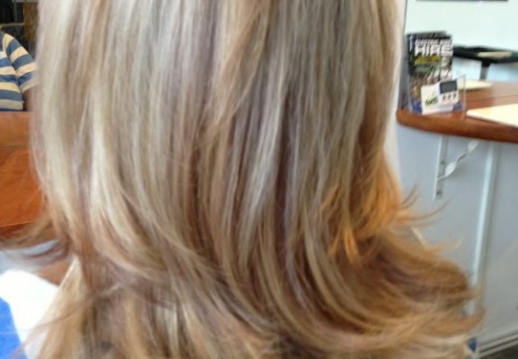 Yummy blonde corrected colour