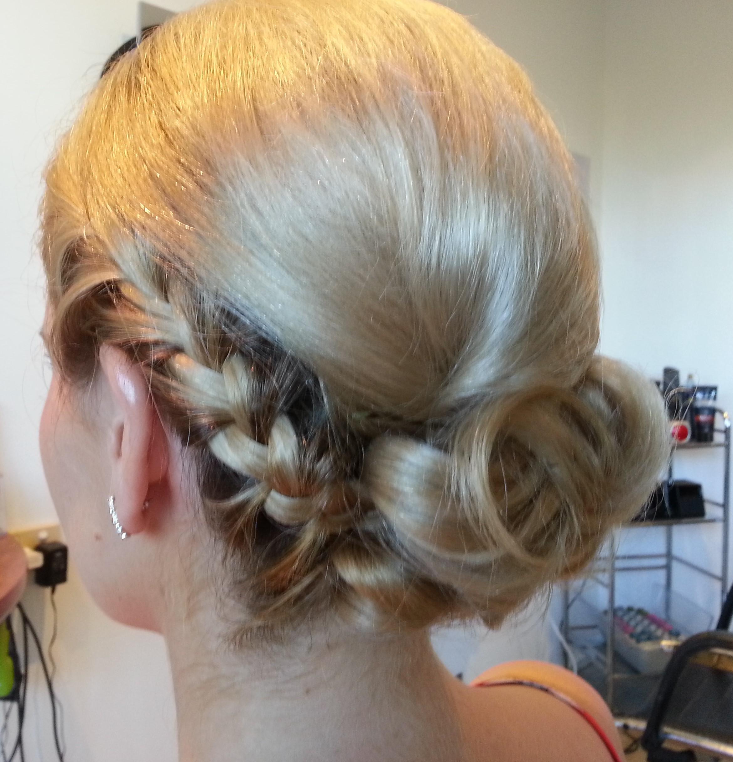 Elegant chignon with braid