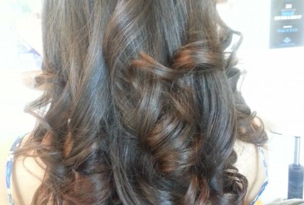 Long soft curls