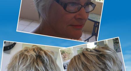 cropped blonde foils