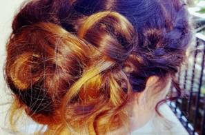 Sexy, long hair up do…
